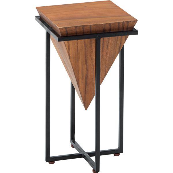 サイドテーブル/ミニテーブル 【S 角型】 幅25cm×奥行25cm×高さ45.5cm】 スチール JW-101B 〔リビング ダイニング〕