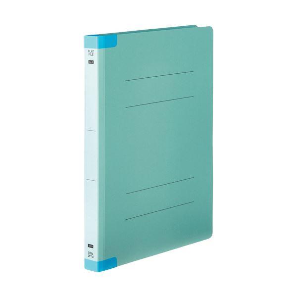 (まとめ) TANOSEEフラットファイル(背補強タイプ) 厚とじ A4タテ 250枚収容 背幅28mm ブルー 1パック(10冊) 【×10セット】