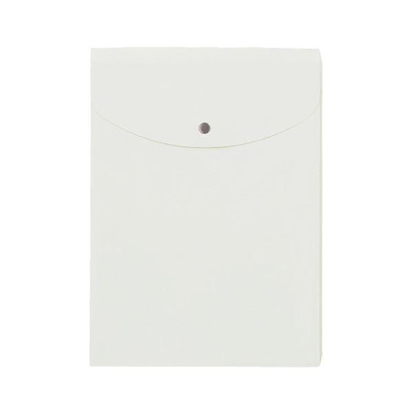 (まとめ) プラス シンプルワークポケット付エンベロープ マチ付 A4タテ ホワイト FL-120CH 1枚 【×100セット】