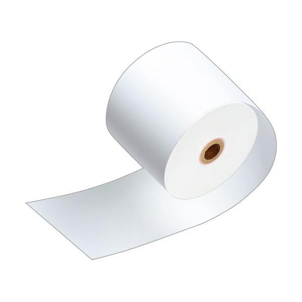 (まとめ)TANOSEE サーマルレジロール紙ノーマル保存 幅58mm×長さ63m 直径71mm 芯内径12mm 1セット(80巻:5巻×16パック)【×3セット】