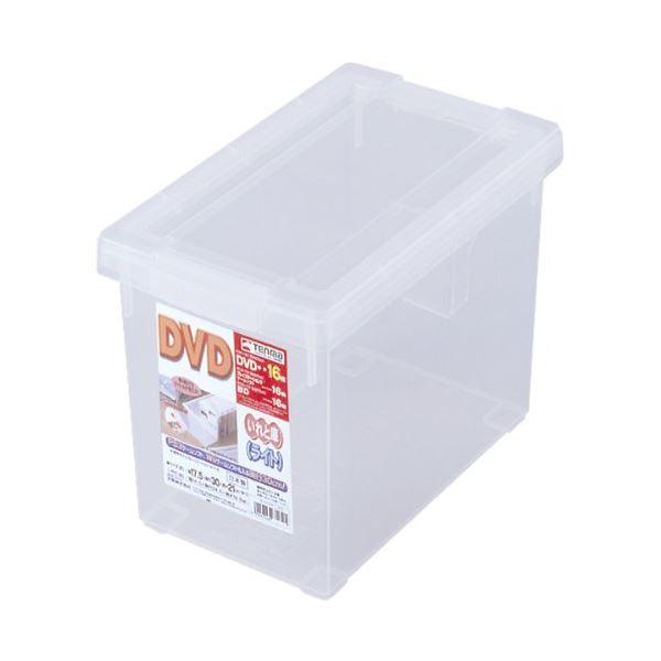 (まとめ) フタ付き 収納ボックス/プラスチックケース 【DVD】 仕切り板付き 『いれと庫 ライト』 【×18個セット】