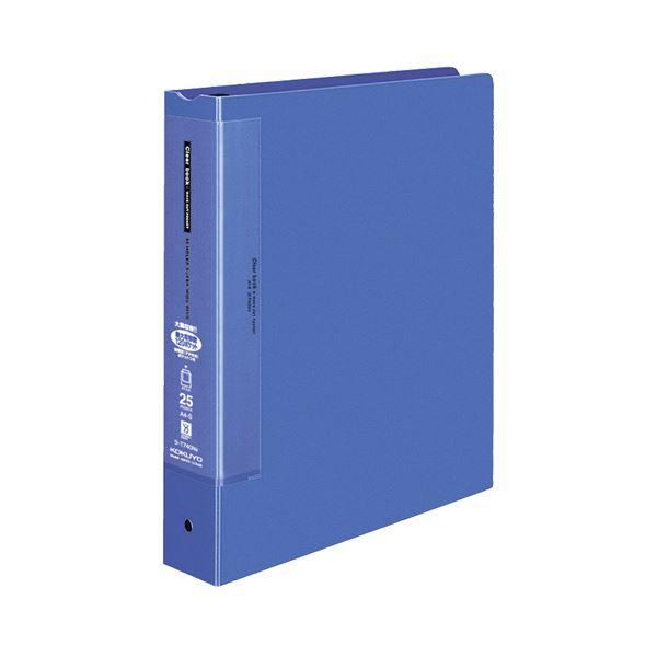 コクヨ クリヤーブック(ウェーブカットポケット・替紙式)A4タテ 30穴 25ポケット付属 背幅63mm 青 ラ-T740NB 1セット(6冊)
