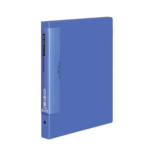 (まとめ) コクヨ クリヤーブック(クリアブック)(ウェーブカットポケット・替紙式) A4タテ 30穴 25ポケット付属 背幅33mm 青 ラ-T730B 1冊 【×10セット】
