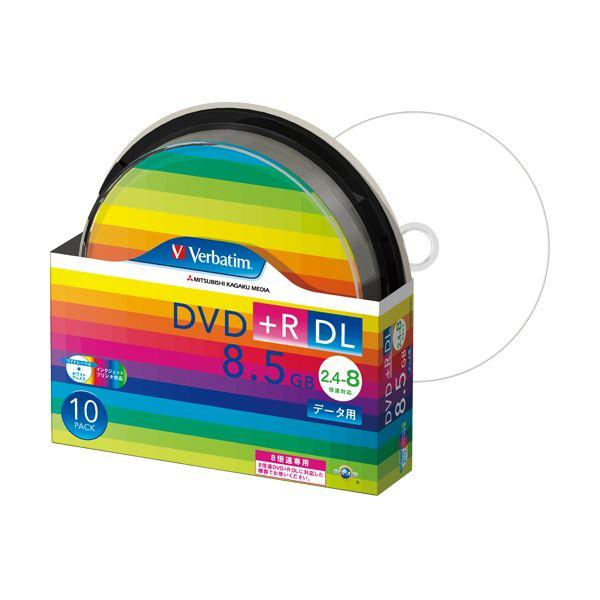 (まとめ) バーベイタム データ用DVD+R DL 8.5GB 8倍速 ワイドプリンターブル スピンドルケース DTR85HP10SV1 1パック(10枚) 【×5セット】
