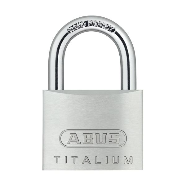 (まとめ) アバス 南京錠 タイタリウム 64TI 50mm 64TI/50KD 1個 【×10セット】