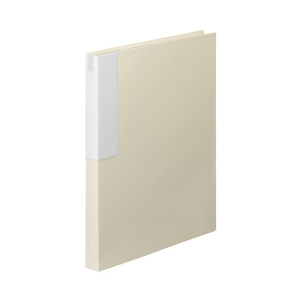 (まとめ) TANOSEE クリヤーブック(クリアブック) A4タテ 36ポケット 背幅24mm オフホワイト 1セット(10冊) 【×10セット】