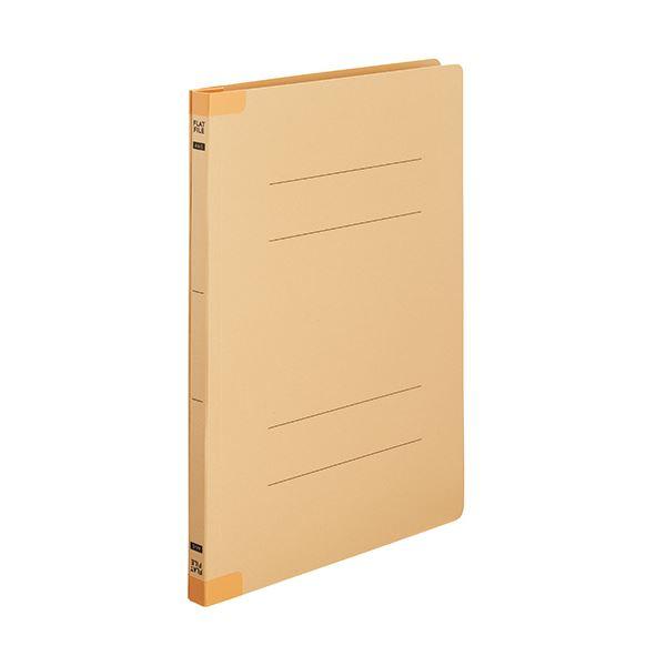 (まとめ)TANOSEEフラットファイル(背補強タイプ) A4タテ 150枚収容 背幅18mm イエロー1セット(100冊:10冊×10パック)【×3セット】