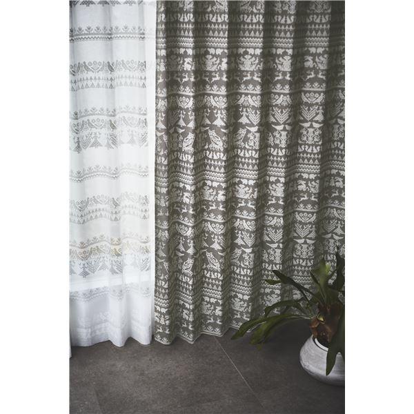 サーナヤオッリ 遮光カーテン J1015 ナイトインザF【100×200cm ブラウン】【代引不可】