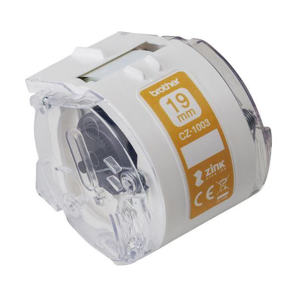 (まとめ) ブラザー 感熱フルカラーラベルプリンターピータッチカラー用ロールカセット 19mm幅×長さ5m CZ-1003 1個 【×5セット】
