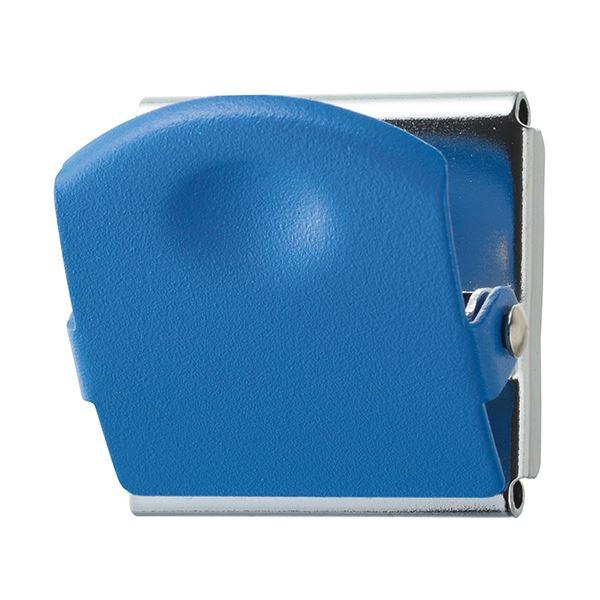 (まとめ) TANOSEE 超強力マグネットクリップM ブルー 1個 【×50セット】