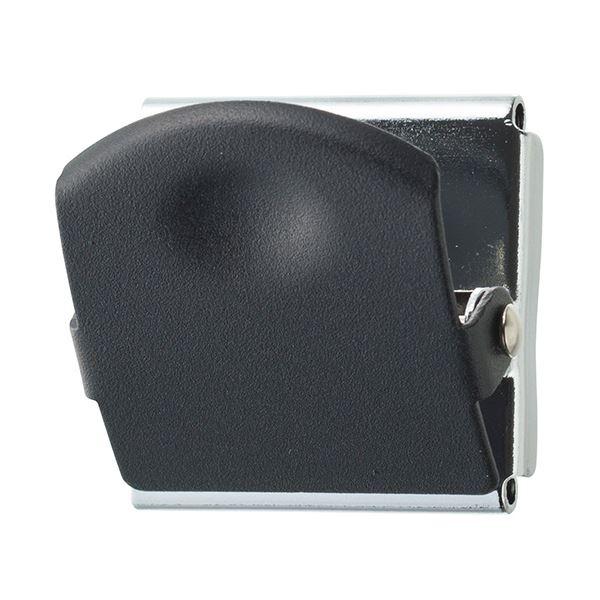 (まとめ) TANOSEE 超強力マグネットクリップM ブラック 1個 【×50セット】