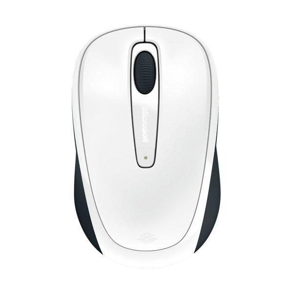 (まとめ) マイクロソフト ワイヤレス モバイルマウス 3500 グロッシーホワイト GMF-00424 1個 【×10セット】