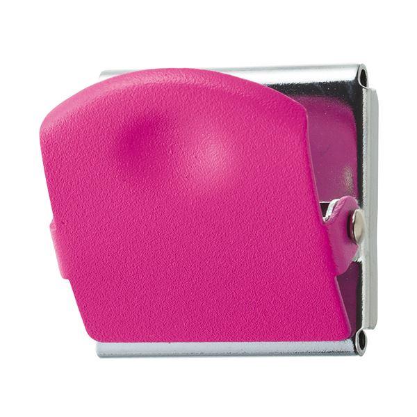 (まとめ) TANOSEE 超強力マグネットクリップM ピンク 1個 【×50セット】