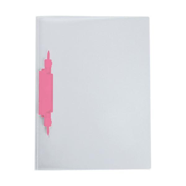 (まとめ) セキセイ レポートファイル(ルララ)A4タテ 2穴 100枚収容 ローズ PAL-80-23 1冊 【×100セット】