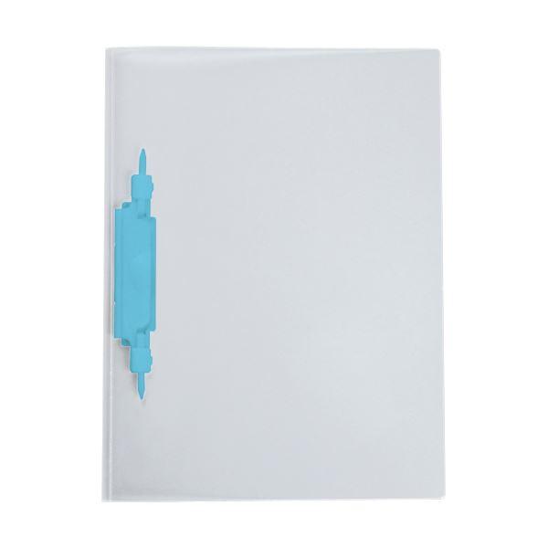 (まとめ) セキセイ レポートファイル(ルララ)A4タテ 2穴 100枚収容 ブルー PAL-80-10 1冊 【×100セット】