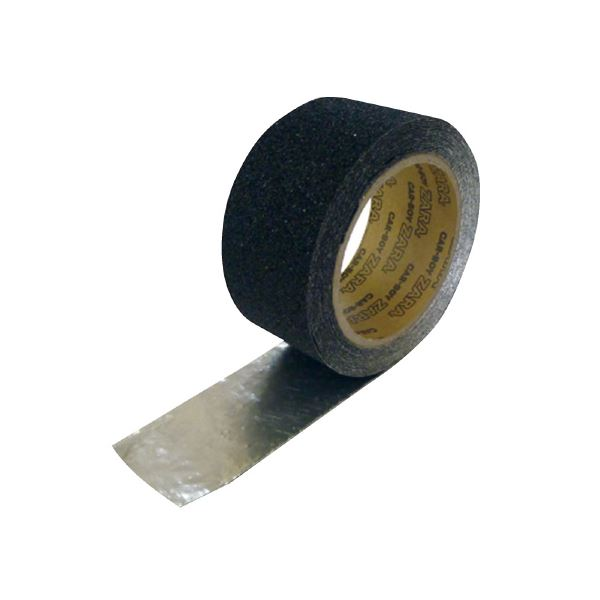 (まとめ)カーボーイ すべり止めテープザラザラブラック50mm×5m【×5セット】