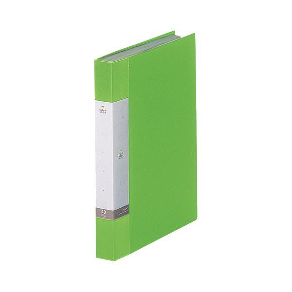 (まとめ) リヒトラブ リクエスト クリヤーブック(クリアブック) A4タテ 40ポケット 背幅32mm 黄緑 G3202-6 1冊 【×30セット】