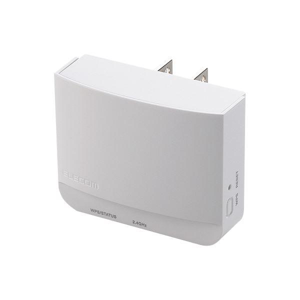 (まとめ)エレコム 無線LAN中継器11bgn300Mbps ホワイト WTC-300HWH 1台【×3セット】