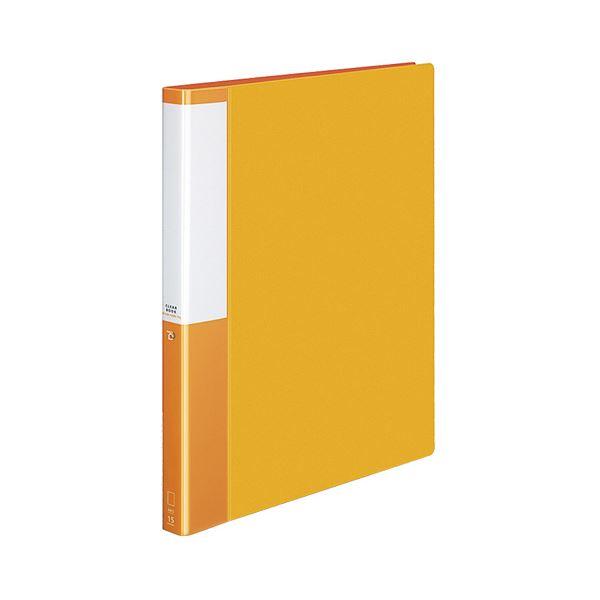 (まとめ) コクヨ クリヤーブック(クリアブック)(POSITY) 替紙式 A4タテ 30穴 15ポケット付属 背幅27mm オレンジ P3ラ-L720YR 1冊 【×10セット】
