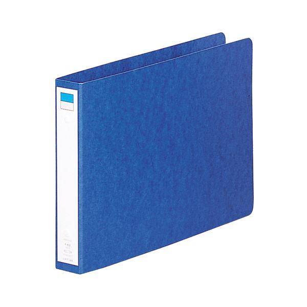 (まとめ) リヒトラブ リングファイル B5ヨコ2穴 200枚収容 背幅35mm 藍 F-832 1冊 【×30セット】
