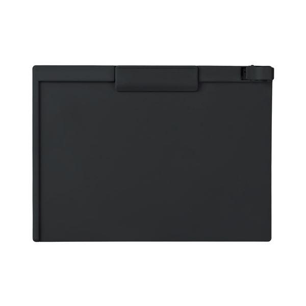 オリジナルのフラットクリップを採用 超薄型なので重ねてもOK まとめ スーパーセール期間限定 セキセイ 業界No.1 クリップボード A4ヨコ 10枚 1セット SSS-3057P-BK ×3セット ブラック