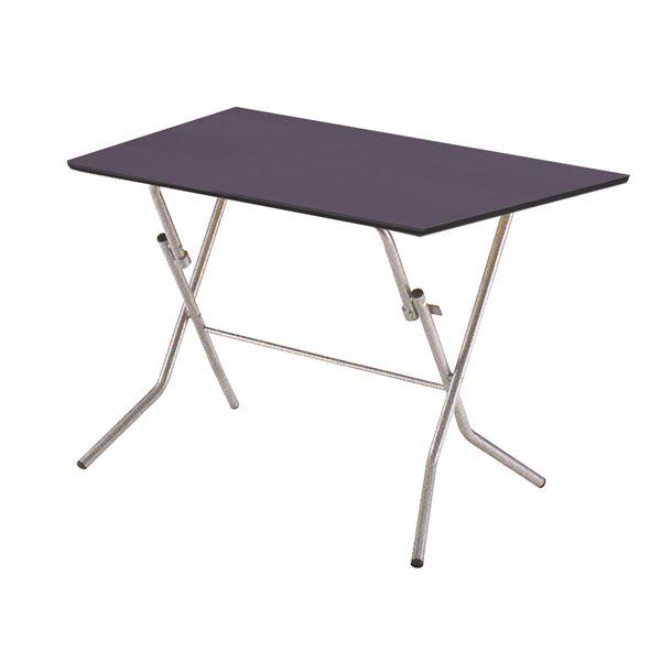 折りたたみテーブル 【幅90cm ダークブラウン×シルバー】 日本製 木製 スチールパイプ 『スタンドタッチテーブル900』【代引不可】