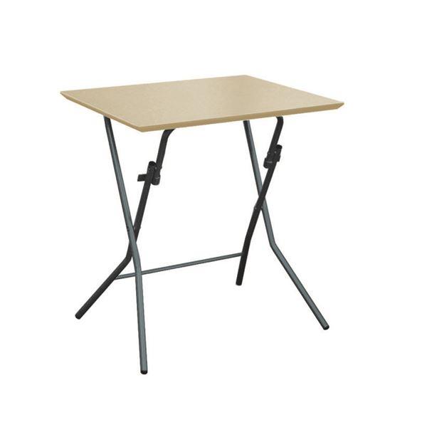 折りたたみテーブル 【幅63.5cm ナチュラル×ブラック】 日本製 木製 スチールパイプ 『スタンドタッチテーブル645』【代引不可】