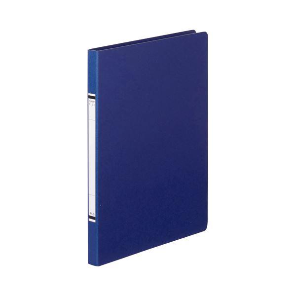 (まとめ) TANOSEE クランプファイル(紙表紙) A4タテ 100枚収容 背幅18mm 青 1セット(10冊) 【×10セット】