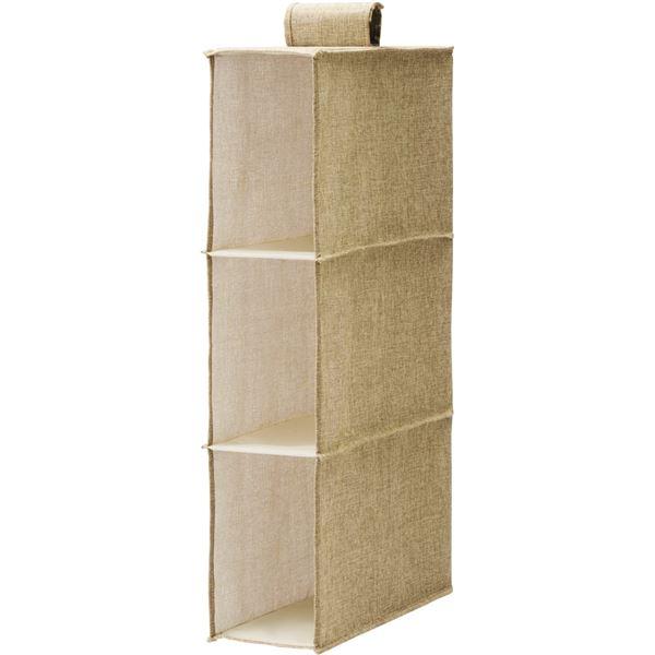 (まとめ) バッグ収納ラック/クローゼット収納 【ライトブラウン】 簡単取り付け 『プロフィックス』 【×10個セット】