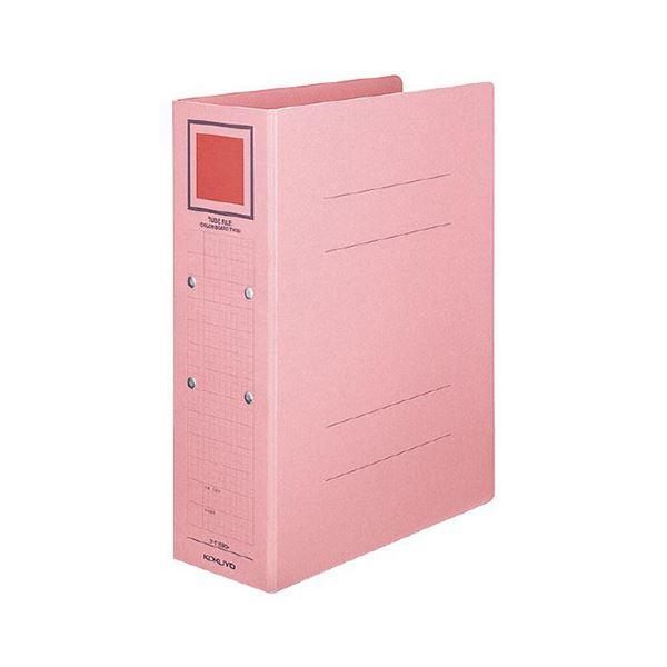 (まとめ) コクヨチューブファイル(カラーボードツイン) A4タテ 500枚収容 50mmとじ 背幅62mm ピンク フ-T1650P1冊 【×30セット】