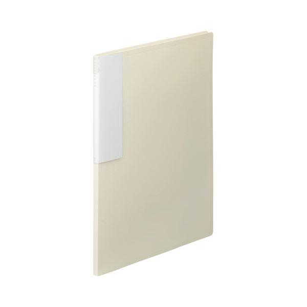 (まとめ) TANOSEE クリヤーブック(クリアブック) A4タテ 12ポケット 背幅10mm オフホワイト 1セット(10冊) 【×10セット】