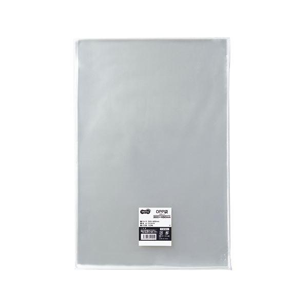 (まとめ) TANOSEE OPP袋 フラット 300×450mm 1パック(100枚) 【×10セット】