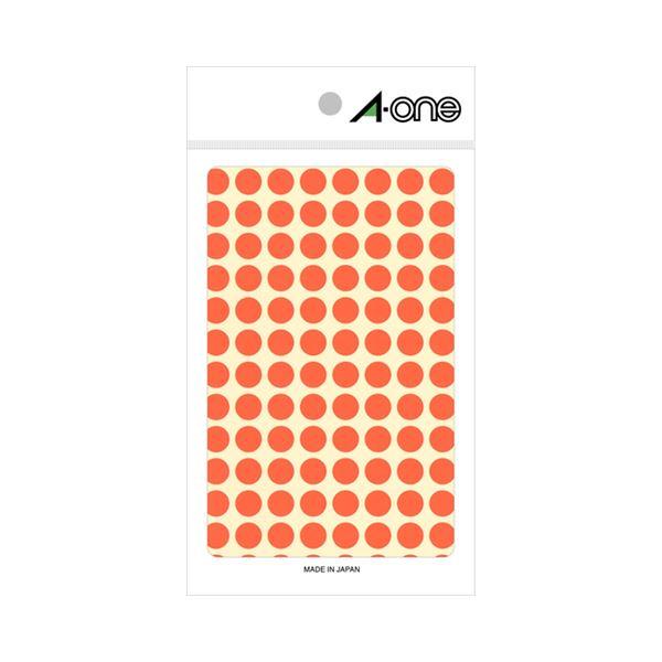 (まとめ) エーワン カラーラベル 丸型 直径9mm 蛍光赤 08171 1パック(416片:104片×4シート) 【×30セット】