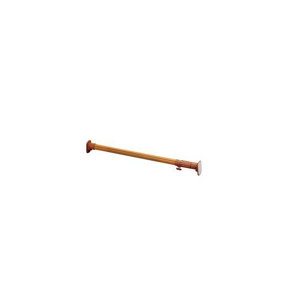 (まとめ) 超強力伸縮ポール/つっぱり棒 【取付幅68~104cm】 木目調 くさび機構 【×10個セット】