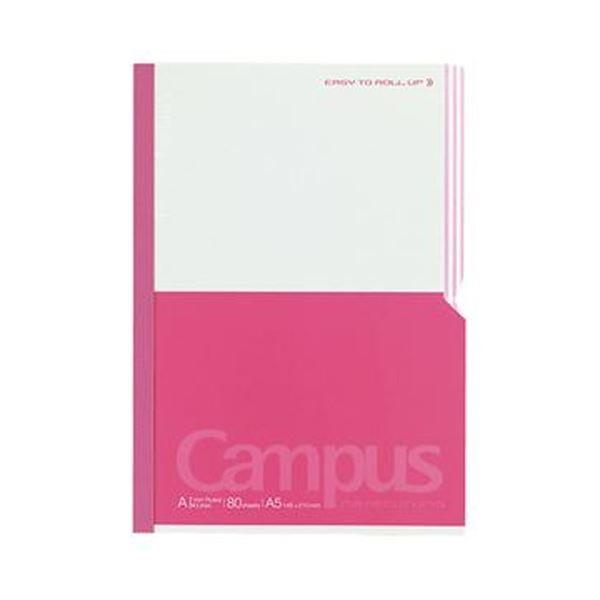 (まとめ)コクヨ キャンパスノート(パラクルノ)A5 A罫 80枚 ピンク ノ-R108AN-P 1セット(5冊)【×3セット】