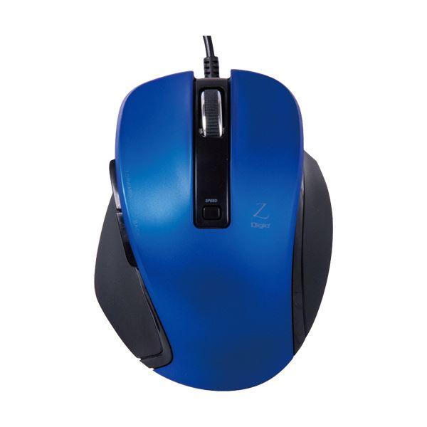 (まとめ) ナカバヤシ 小型有線5ボタンBlueLEDマウス ブルー MUS-UKF120BL 1個 【×10セット】