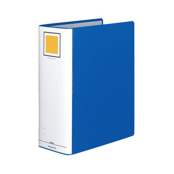 (まとめ) コクヨ チューブファイル(エコ) 片開き A4タテ 1000枚収容 背幅115mm 青 フ-E6100B 1冊 【×10セット】