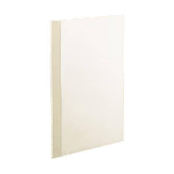 (まとめ)TANOSEE薄型クリアブック(角まる) A4タテ 10ポケット クリア 1セット(50冊:5冊×10パック)【×3セット】