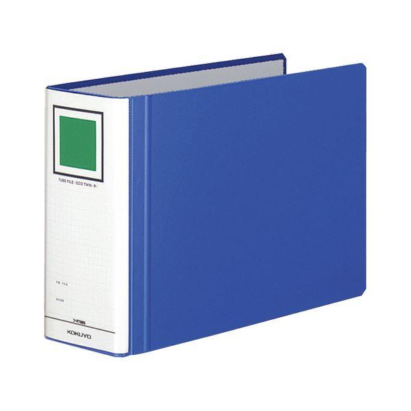 (まとめ) コクヨ チューブファイル(エコツインR) A4ヨコ 800枚収容 背幅95mm 青 フ-RT685B 1冊 【×10セット】