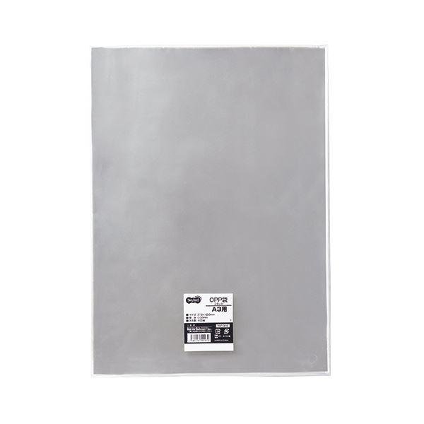 (まとめ) TANOSEE OPP袋 フラット A3用 310×430mm 1パック(100枚) 【×10セット】