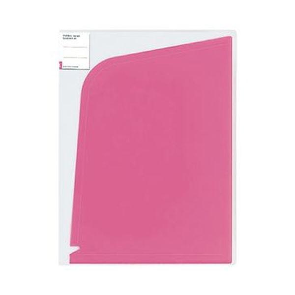 (まとめ)コクヨ ホルダーブック(ポケット:4)A4(A3)ピンク フ-5702P 1セット(5枚)【×10セット】
