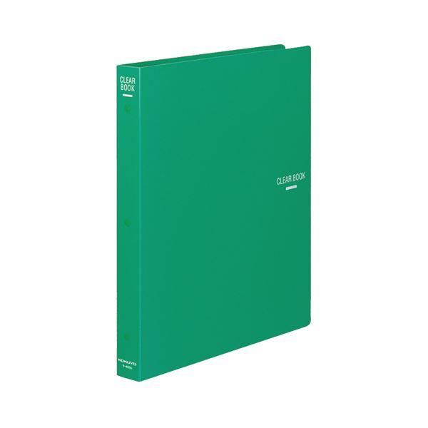 (まとめ) コクヨ クリヤーブック(クリアブック)(替紙式) A4タテ 30穴 23ポケット付属 背幅34mm 緑 ラ-460G 1冊 【×10セット】