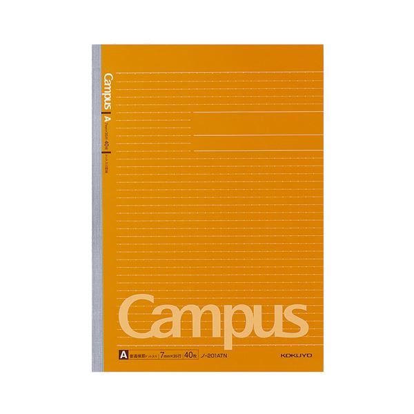 (まとめ) コクヨ キャンパスノート(ドット入り罫線) A4 A罫 40枚 ノ-201ATN 1セット(5冊) 【×10セット】