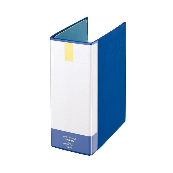 (まとめ) ライオン事務器 パイプ式ファイル(環境) 両開き A4タテ 1000枚収容 背幅121mm ブルー No.7103RK 1冊 【×10セット】