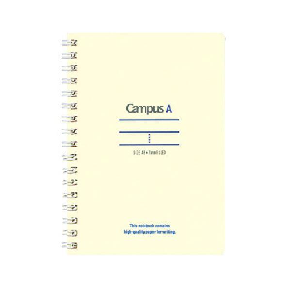 (まとめ)コクヨ キャンパスツインリングノート(ミニサイズ)A6 A罫 50枚 青 ス-T150A-B 1セット(10冊)【×5セット】