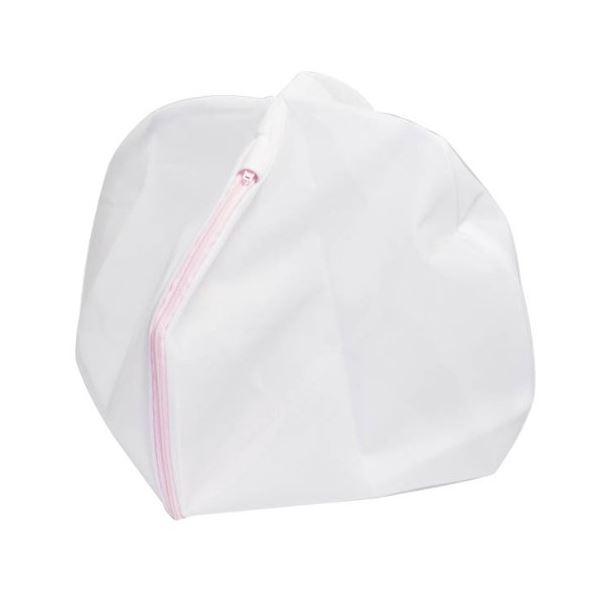 (まとめ) 洗濯ネット/洗濯用品 【丸型】 直径33cm ファスナーカバー付き ガードネット 【×200個セット】