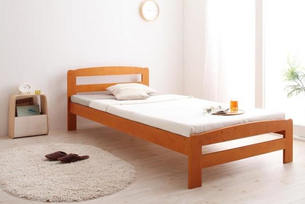 すのこベッド シングル【ライトブラウン】【フレームのみ】 高さ調節可能・すのこベッド【Marone】マローネ【代引不可】