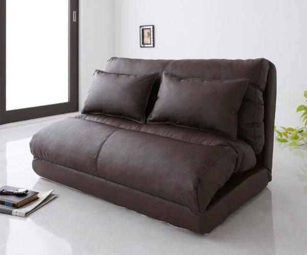 ソファーベッド 【ブラック】幅120cm【Luxer】 コンパクトフロアリクライニングソファベッド【Luxer】リュクサー【代引不可】