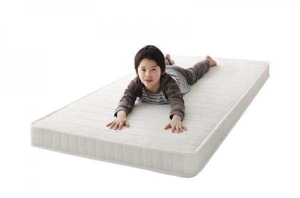 子どもの睡眠環境を考えた 安眠マットレス 薄型・軽量・高通気 ボンネルコイル 【EVA】 マットレス アイボリー コンパクトショート セミシングル 【EVA】 エヴァ ジュニア