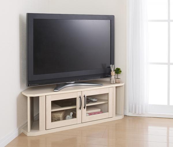 テレビ台【ナチュラルホワイト】 超!薄型コーナーテレビボード【hilppa】ヒルッパ【代引不可】